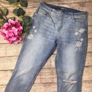 Old Navy Rockstar Super Skinny Embroidered Jeans